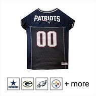 Pets First NFL Dog & Cat Mesh Jersey, New England Patriots, Large