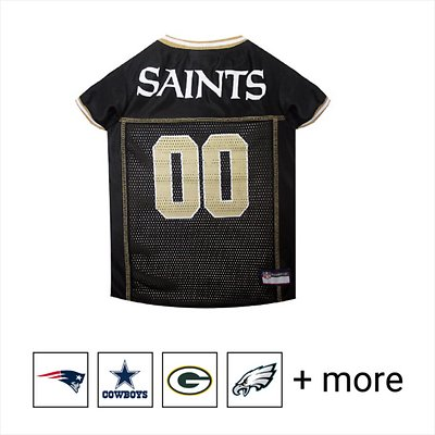 f7e0bf000d5 Pets First NFL Dog & Cat Mesh Jersey, New Orleans Saints, X-Small ...