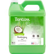 TropiClean Deodorizing Aloe & Coconut Dog & Cat Shampoo, 1-gallon bottle