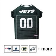 Pets First NFL Dog & Cat Mesh Jersey, New York Jets, Large