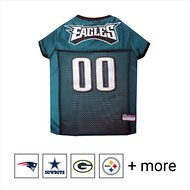 Pets First NFL Dog & Cat Mesh Jersey, Philadelphia Eagles, Large