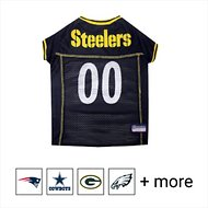 Pets First NFL Dog & Cat Mesh Jersey, Pittsburgh Steelers, Large