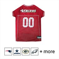 Pets First San Francisco 49ers Mesh Dog & Cat Jersey, Large