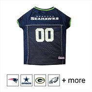 Pets First NFL Dog & Cat Mesh Jersey, Seattle Seahawks, Small