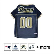 Pets First NFL Dog & Cat Mesh Jersey, Los Angeles Rams, Medium