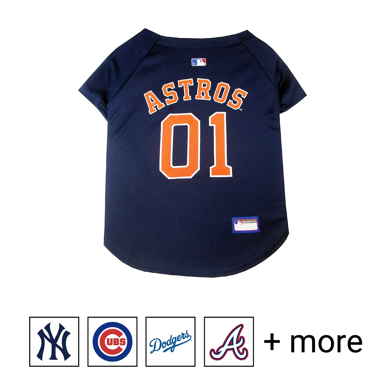 7938e3ed Pets First MLB Dog & Cat Jersey, Houston Astros, Large - Chewy.com