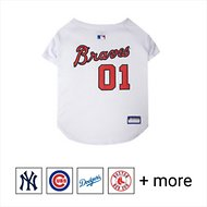 Pets First MLB Dog & Cat Jersey, Atlanta Braves, Medium