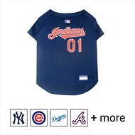Pets First MLB Dog & Cat Jersey, Cleveland Indians, Large