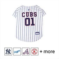 Pets First MLB Dog & Cat Jersey, Chicago Cubs, Large
