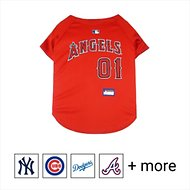 Pets First MLB Dog & Cat Jersey, Los Angeles Angels, Medium