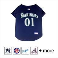 Pets First MLB Dog & Cat Jersey, Seattle Mariners, Large