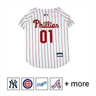 Pets First MLB Dog & Cat Jersey, Philadelphia Phillies, Medium