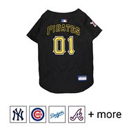 Pets First MLB Dog & Cat Jersey, Pittsburgh Pirates, Large