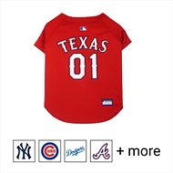 Pets First MLB Dog & Cat Jersey, Texas Rangers, Large