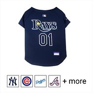 Pets First MLB Dog & Cat Jersey, Tampa Bay Rays, Large