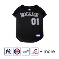 Pets First MLB Dog & Cat Jersey, Colorado Rockies, Large