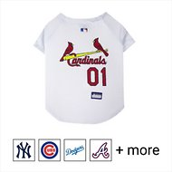 Pets First MLB Dog & Cat Jersey, St. Louis Cardinals, Small