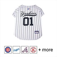 Pets First New York Yankees Dog & Cat Jersey, Small