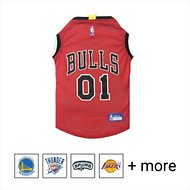Pets First NBA Dog & Cat Mesh Jersey, Chicago Bulls, Large