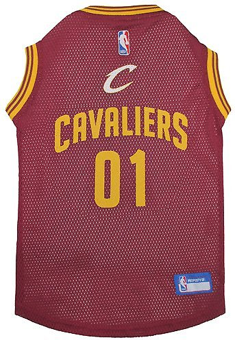 Pets first cleveland cavaliers mesh dog cat jersey medium video nvjuhfo Choice Image