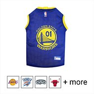 Pets First NBA Dog & Cat Mesh Jersey, Golden State Warriors, Medium