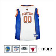 Pets First NBA Dog & Cat Mesh Jersey, New York Knicks, Small