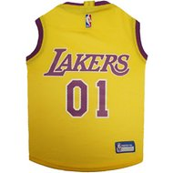 Pets First  LA Lakers Mesh Dog & Cat Jersey, Large