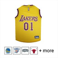 Pets First  LA Lakers Mesh Dog & Cat Jersey, Medium