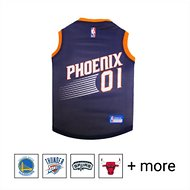 Pets First NBA Dog & Cat Mesh Jersey, Phoenix Suns, Large