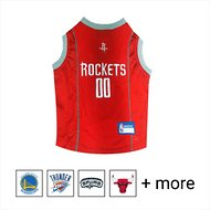 Pets First NBA Dog & Cat Mesh Jersey, Houston Rockets, Large