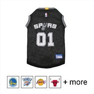 Pets First NBA Dog & Cat Mesh Jersey, San Antonio Spurs, Large