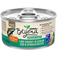 Purina Beyond Grain-Free Ocean Whitefish & Spinach Pate Recipe Canned Cat Food, 3-oz, case of 12