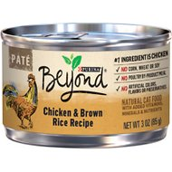 Purina Beyond Chicken & Brown Rice Pate Recipe Canned Cat Food, 3-oz, case of 12