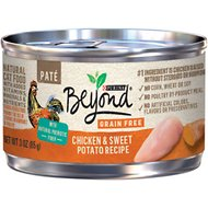 Purina Beyond Grain-Free Chicken & Sweet Potato Pate Recipe Canned Cat Food, 3-oz, case of 12