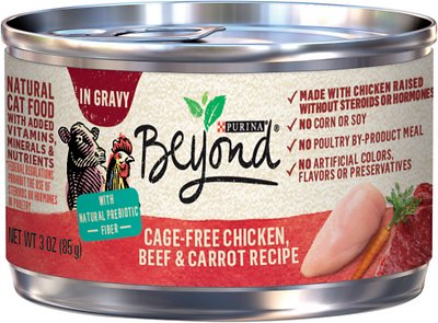 6. Purina Beyond Grain-Free Chicken, Beef & Carrot Cat Food