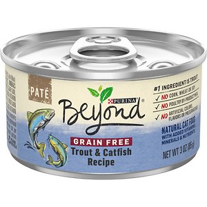 Purina Beyond Grain-Free Trout & Catfish Pate Recipe Canned Cat Food, 3-oz, case of 12