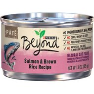 Purina Beyond Salmon & Brown Rice Pate Recipe Canned Cat Food, 3-oz, case of 12
