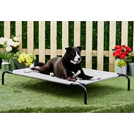 Frisco Steel-Framed Elevated Pet Bed, Gray, Large