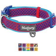 Blueberry Pet Patterned Dog Collar, Small, Diamond Red