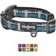Blueberry Pet Patterned Dog Collar, Regimental Stripes, Medium