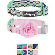 Blueberry Pet Mix and Match Dog Collar, Pretty Picks, 2 Pack, Small