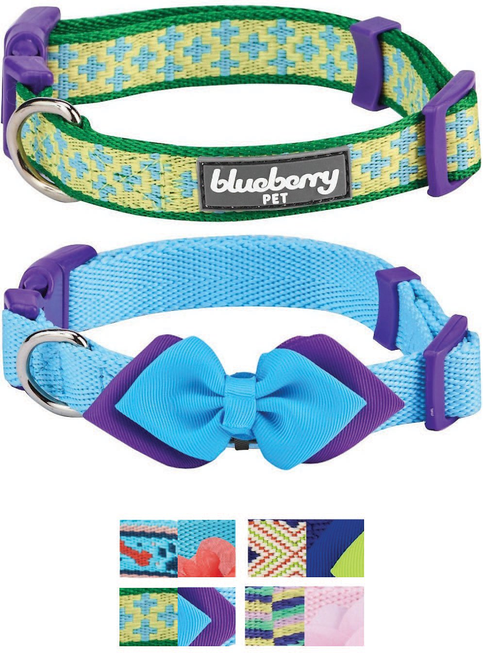 Blueberry Pet Mix And Match Dog Collar Uptown Chic 2 Pack Small