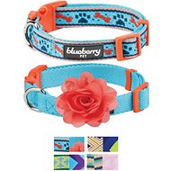 Blueberry Pet Mix and Match Dog Collar, Perfect Sky Blue, 2 Pack, Small