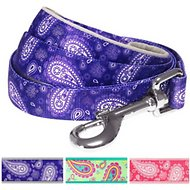 Blueberry Pet Paisley Print Dog Leash, Violet, 5-ft, 3/4 in