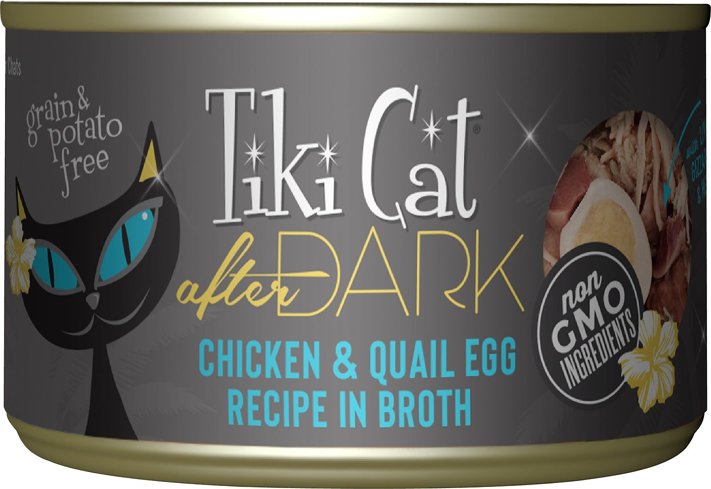 Tiki Cat After Dark Chicken & Quail Canned Cat Food, 5 5-oz, case of 8