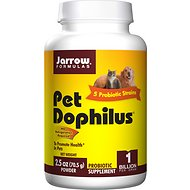 Jarrow Formulas Pet Dophilus Powder for Dogs & Cats, 2.5- oz jar