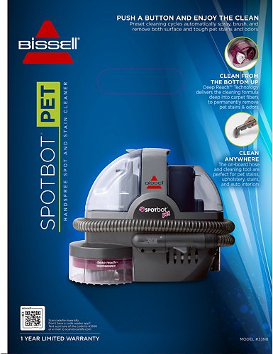 bissell spotbot pet handsfree portable spot u0026 stain carpet cleaner