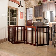 Primetime Petz 360 Configurable Gate with Door, 30-in, Walnut