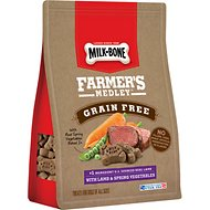Milk-Bone Farmer's Medley Grain-Free Lamb & Spring Vegetables Dog Treats, 12-oz bag