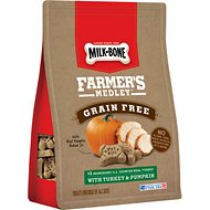 Milk-Bone Farmer's Medley Grain-Free Turkey & Pumpkin Dog Treats, 12-oz bag